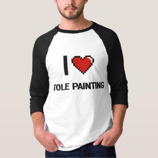 I Love Tole Painting Digital Retro Design Tee Shirts