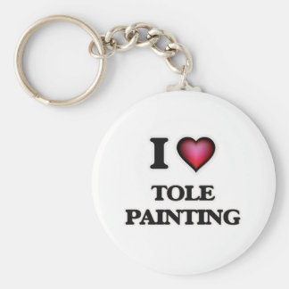 I Love Tole Painting Keychain