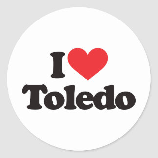 I Love Toledo Classic Round Sticker