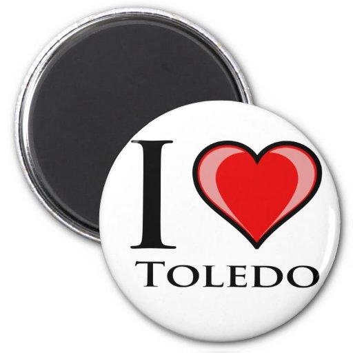 I Love Toledo Fridge Magnet
