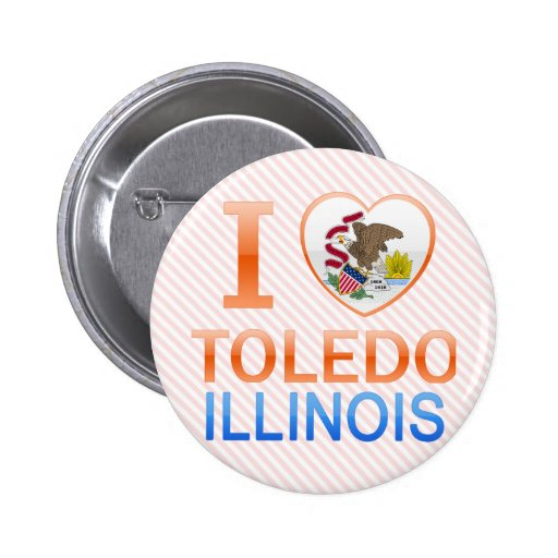 I Love Toledo, IL 2 Inch Round Button