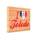 I Love Toledo, Iowa Canvas Print