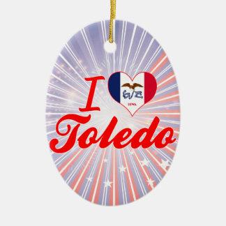 I Love Toledo Iowa Christmas Ornament