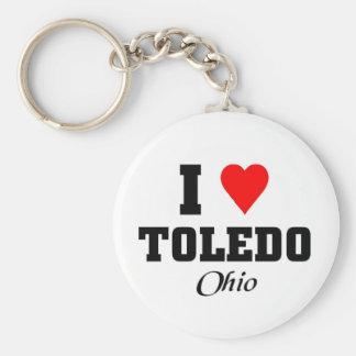 I love Toledo, Ohio Keychain