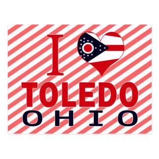 I love Toledo, Ohio Postcard