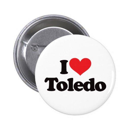 I Love Toledo Pinback Button