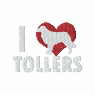 I Love Tollers Embroidered Shirt Long Sleeved