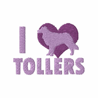 I Love Tollers Embroidered Shirt (Zip Hoodie)