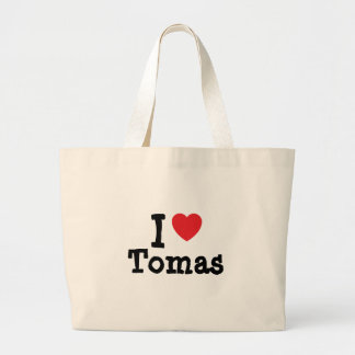 I love Tomas heart custom personalized Tote Bag