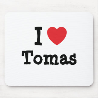 I love Tomas heart custom personalized Mouse Mat
