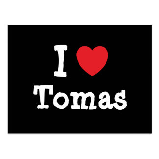 I love Tomas heart custom personalized Post Cards