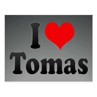I love Tomas Postcard