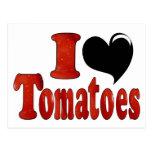 I Love Tomatoes Postcard