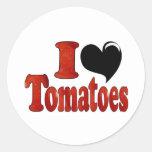 I Love Tomatoes Round Sticker