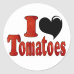 I Love Tomatoes Stickers