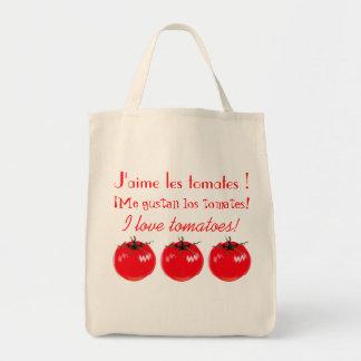 I love tomatoes! tote bag
