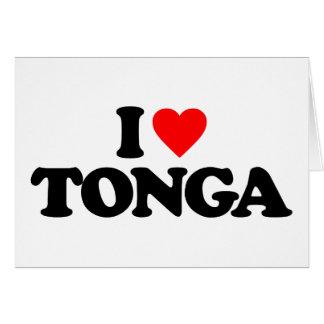 I LOVE TONGA GREETING CARDS