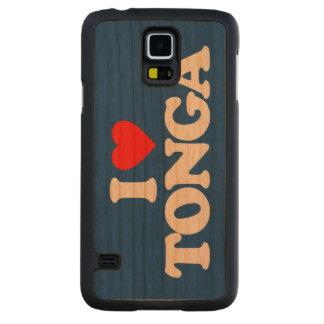 I LOVE TONGA CARVED CHERRY GALAXY S5 SLIM CASE