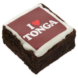 I LOVE TONGA CHOCOLATE BROWNIE