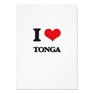 I Love Tonga Custom Announcement Card