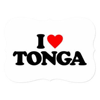 I LOVE TONGA PERSONALIZED INVITES