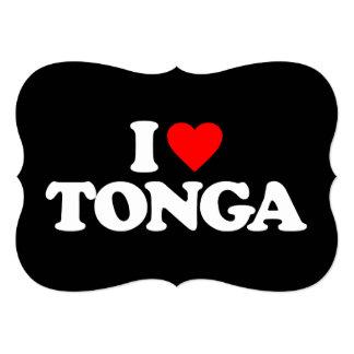 I LOVE TONGA CARD