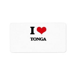 I Love Tonga Address Label