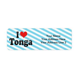 I Love Tonga Custom Return Address Label