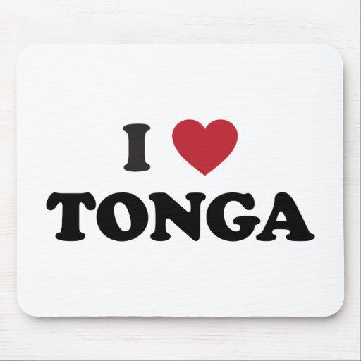 I Love Tonga Mouse Pad