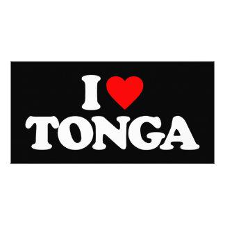 I LOVE TONGA PHOTO CARD TEMPLATE