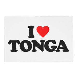 I LOVE TONGA PLACEMAT