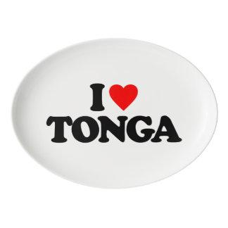 I LOVE TONGA PORCELAIN SERVING PLATTER
