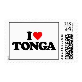 I LOVE TONGA POSTAGE