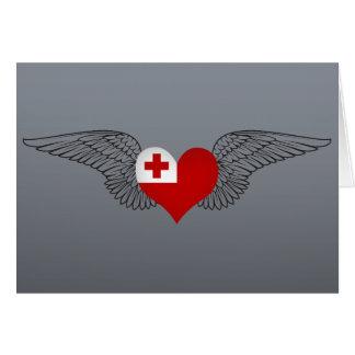I Love Tonga -wings Card