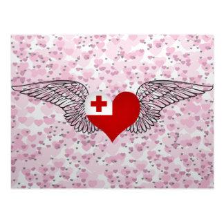 I Love Tonga -wings Post Card