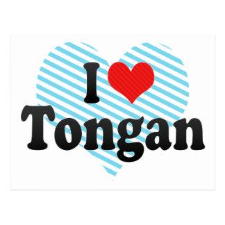 I Love Tongan Postcard