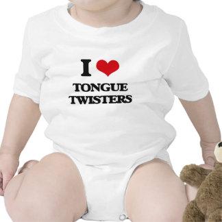 I love Tongue Twisters Baby Creeper