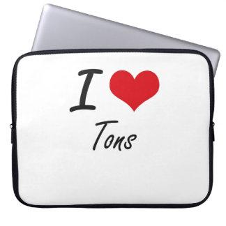 I love Tons Laptop Sleeve