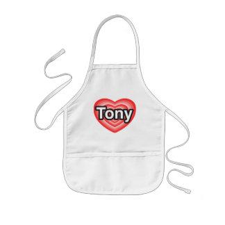 I love Tony. I love you Tony. Heart Kids' Apron