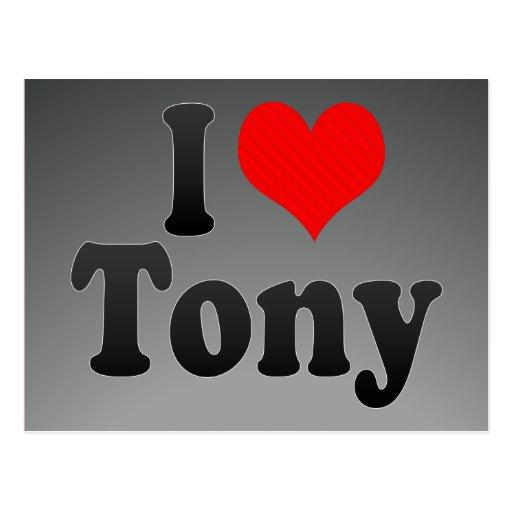 I love Tony Postcard