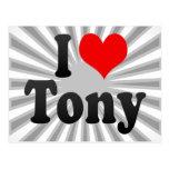 I love Tony Postcards