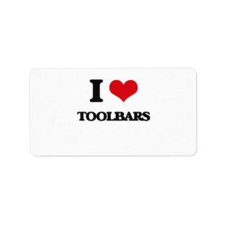I love Toolbars Address Label