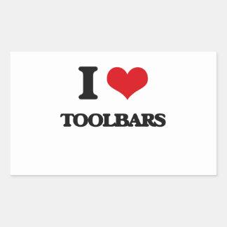 I love Toolbars Rectangular Sticker