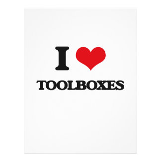 """I love Toolboxes 8.5"""" X 11"""" Flyer"""