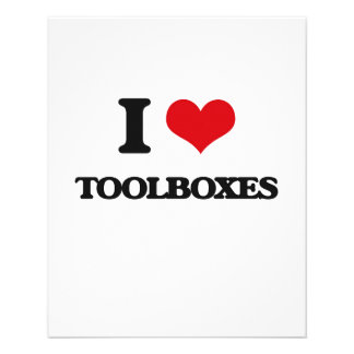 """I love Toolboxes 4.5"""" X 5.6"""" Flyer"""