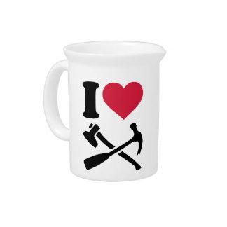 I love Tools hammer ax Beverage Pitchers