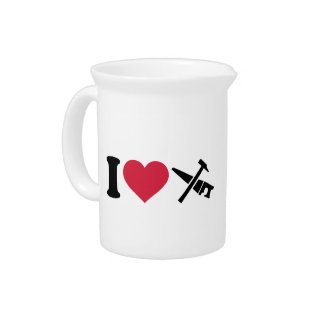 I love tools saw hammer beverage pitcher