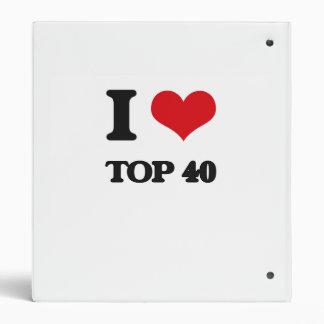 I Love TOP 40 3 Ring Binders