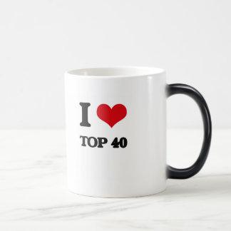 I Love TOP 40 11 Oz Magic Heat Color-Changing Coffee Mug