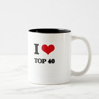I Love TOP 40 Two-Tone Coffee Mug
